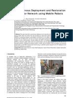 InTech-Autonomous Deployment and Restoration of Sensor Network Using Mobile Robots