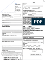 TWI Appilication Form