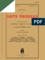 Nicola Picardi e Dierle Nunes. Rivista Di Diritto Processuale - Estrato