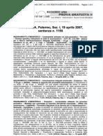 ITALCEMENTI Sentenza 1156 I° Sezione TAR Palermo 19 Aprile 2007