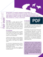 OIE fact sheet - animal welfare