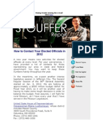 This Week's Stouffer Report- How to Contact Your Elected Officials in 2012