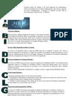 le BI du 2  au 13  janvier 2012