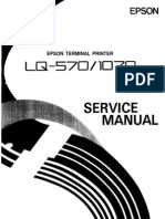 Epson lq-570e, lq-580 printers service manual and parts list.