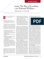 The Perfect Storm, The Rise of Localism, and its Effects on National Wellness