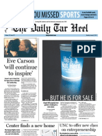 The Daily Tar Heel for January 9, 2012