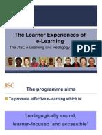JISC-Learner Experience Program