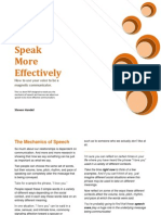 How to Speak More Effectively