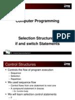 C programming language - selection