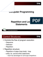 C programming language - repetition