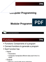 C programming language - modular programming