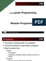 C programming language - modular programming