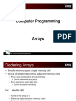 C programming language - arrays