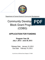 PY38 COMMUNITY DEVELOPMENT BLOCK GRANT APPLICATION