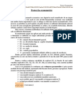 Proiect La Econometrie