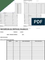 Formato Reposicion de Viaticos 07-01-2012