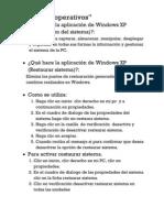 Que hace la aplicación de Windows XP