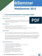 Temario WebSeminar Las Palmas de Gran Canaria 2012