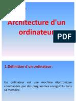 Architecture d'Un Ordinateur