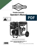 Briggs & Stratton Elite Portable Generator Operators Manual Model # 030241