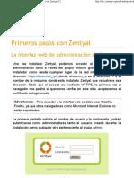 Primeros pasos con Zentyal — Documentación de Zentyal 2