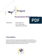 Vocaloid Radio Project Proposal
