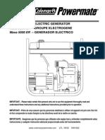 Coleman Maxa 5000 ER Portable Generator Owner's Manual