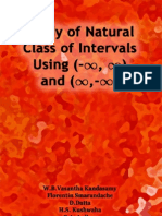 Study of Natural Class of Intervals Using (-∞, ∞) and (∞, -∞), by W. B. Vasantha Kandasamy, Florentin Smarandache, D. Datta, H. S. Kushwaha, P. A. Jadhav