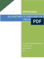 ANTOLOGIA DE ALGORITMOS Y LENGUAJES DE PROGRAMACIÓN