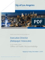 Recruiting for the job of LADWP Ratepayer Advocate