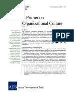Primer on Organizational Culture