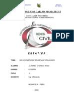 SOLUCIONARIO DE Examen Aplazado Estatica