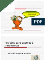 posições exames