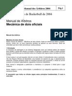 Basquete-Manual dos árbitros