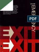 Prescolite Emergency Exit Sign Series EX-8 1975