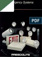 Prescolite Emergency Systems ES-1 1989