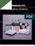 Prescolite Emergency Systems ES-4 1992