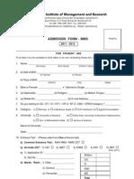 MMS Admission Form 2011-12[1]