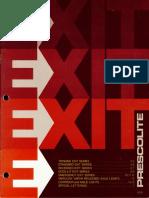 Prescolite Exit Sign Series EX-9 1978