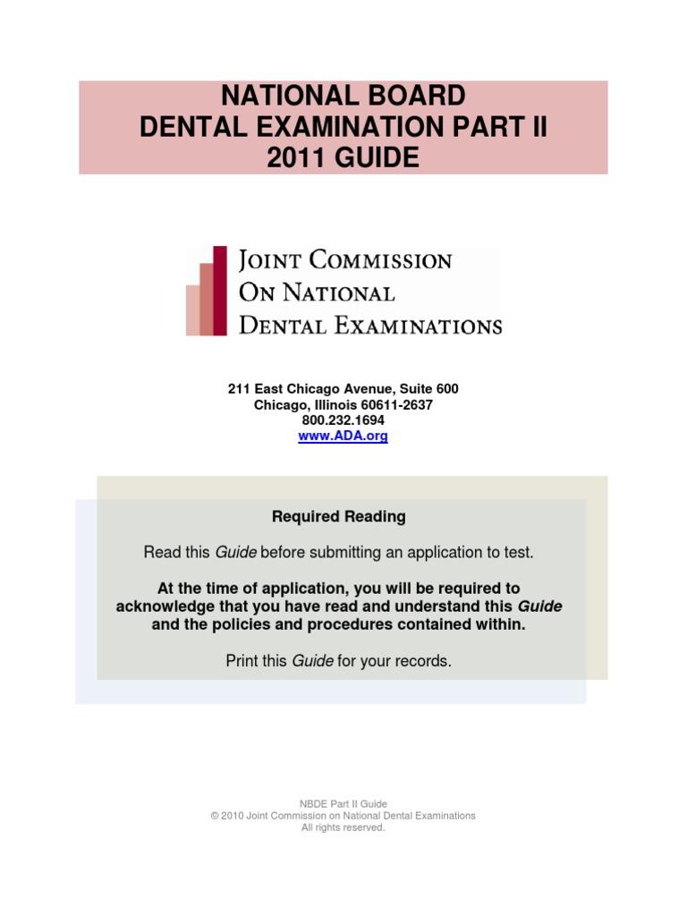 Nbde02 Examinee Guide | Identity Document | Test (Assessment)