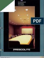 Prescolite Incandescent Down Lights RP-5 1990