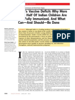 India's Vaccine Deficit- Why More Than Half of Indian Children Are Not Fully Immunized and What Can-And Should-Be Done
