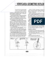OPEL ASTRA F - 12 - Verificarea geometriei rotilor