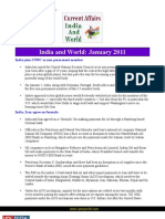 Current Affairs for IAS Exam 2011 India World January 2011 Www.upscportal