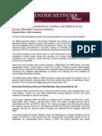 GNN Dec 2011 - Case Study - Kyrgyz Republic