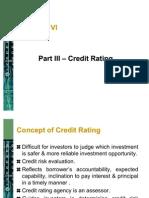 Part-II Credit Rating