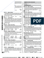 2010 Winter Class Listings