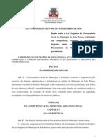 Lei Procuradoria JP