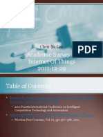 Academic Survey of Internet Of Things (2011-12-29)