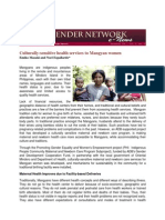GNN Dec 2011 - CoP - Culturally-Sensitive Health Services to Mangyan Women -E. Masaki
